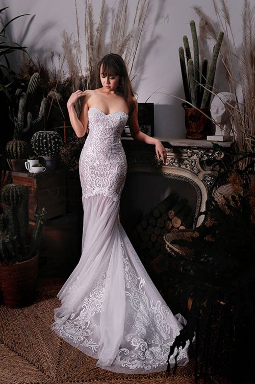 Kim Alpha Bridal - Bridal & Formal Dresses Melbourne - Elora Lace & Tulle Wedding Dress