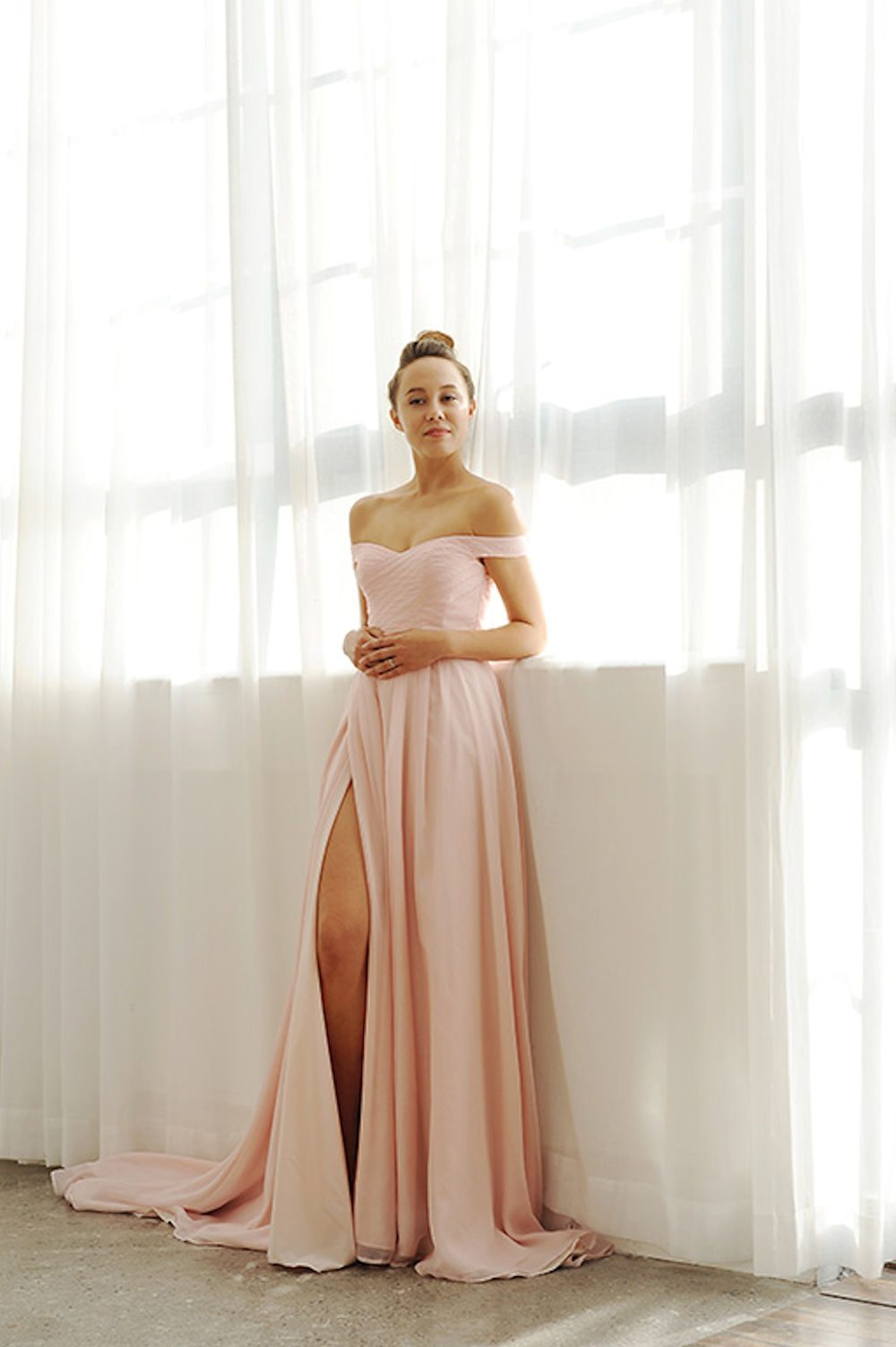 Kim Alpha Bridal - Bridal & Formal Dresses Melbourne - Joey Blush Pink Dress