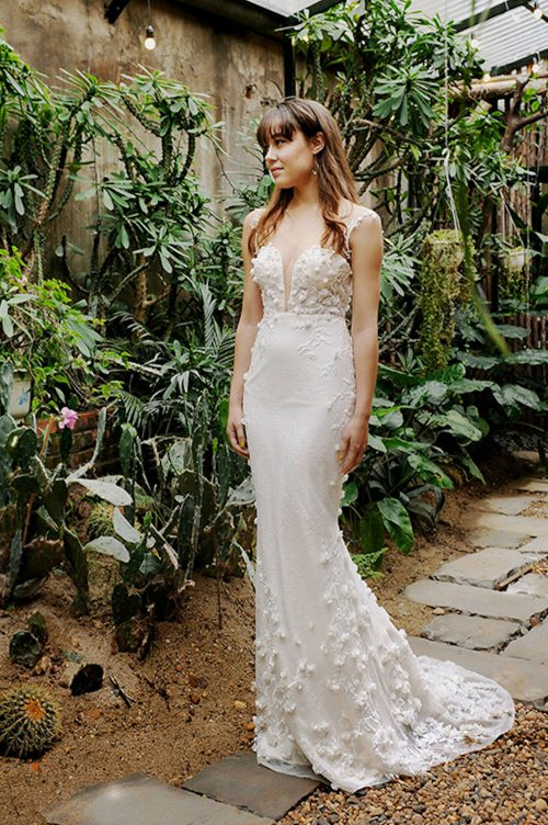 Kim Alpha Bridal - Bridal & Formal Dresses Melbourne - Zariah 3D Flowers Wedding Dress