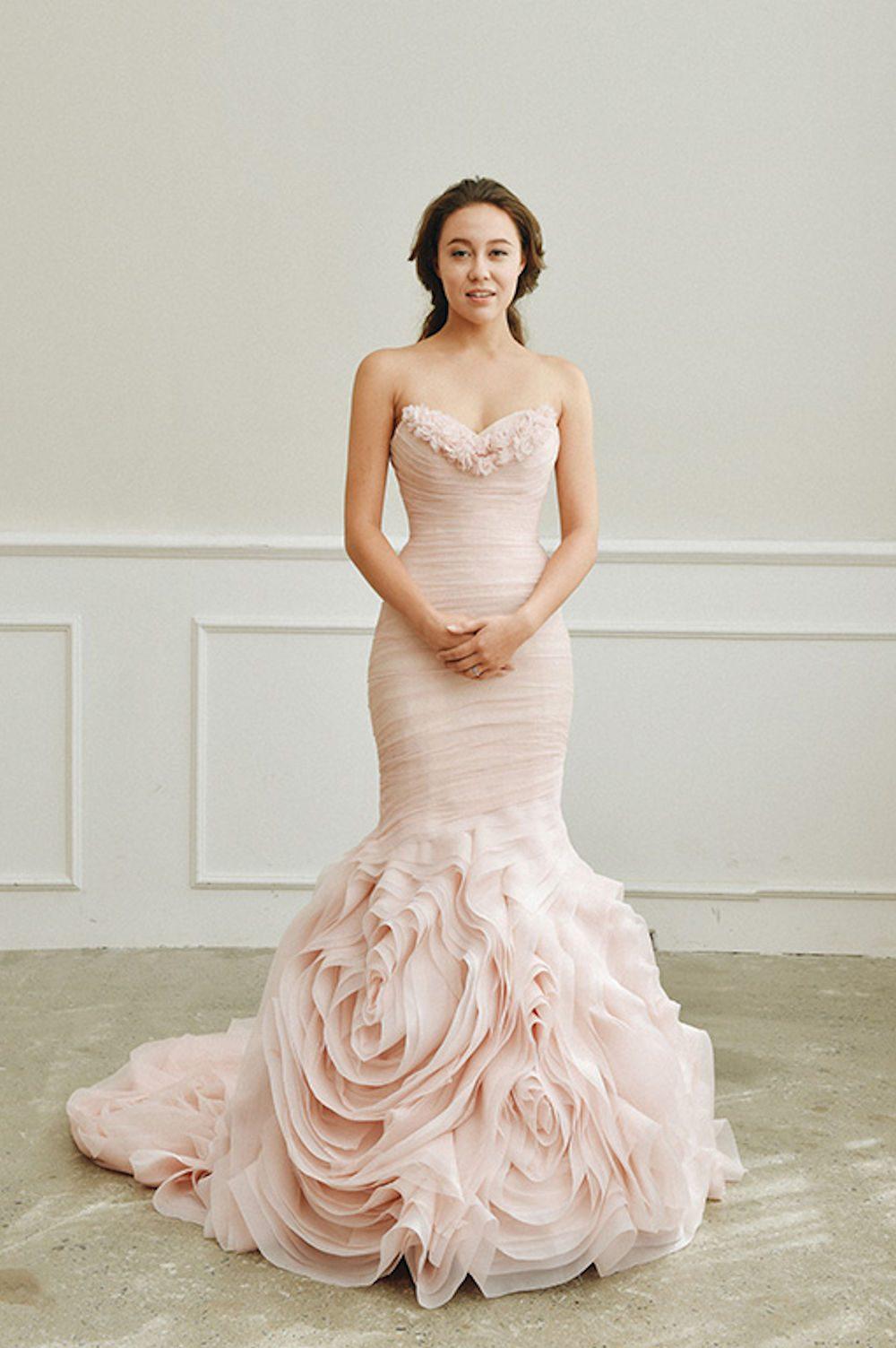 Kim Alpha Bridal - Wedding Dress Melbourne - Arcata Line Blush Pink Wedding Dress
