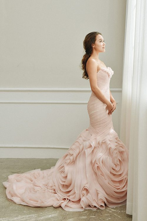 Kim Alpha Bridal - Wedding Dress Melbourne - Arcata Line Blush Pink Wedding Dress