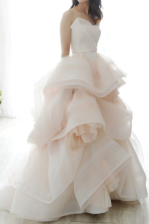 Kim Alpha Bridal - Wedding Dress Melbourne - Bellini Blush Pink Ballgown Wedding Dress