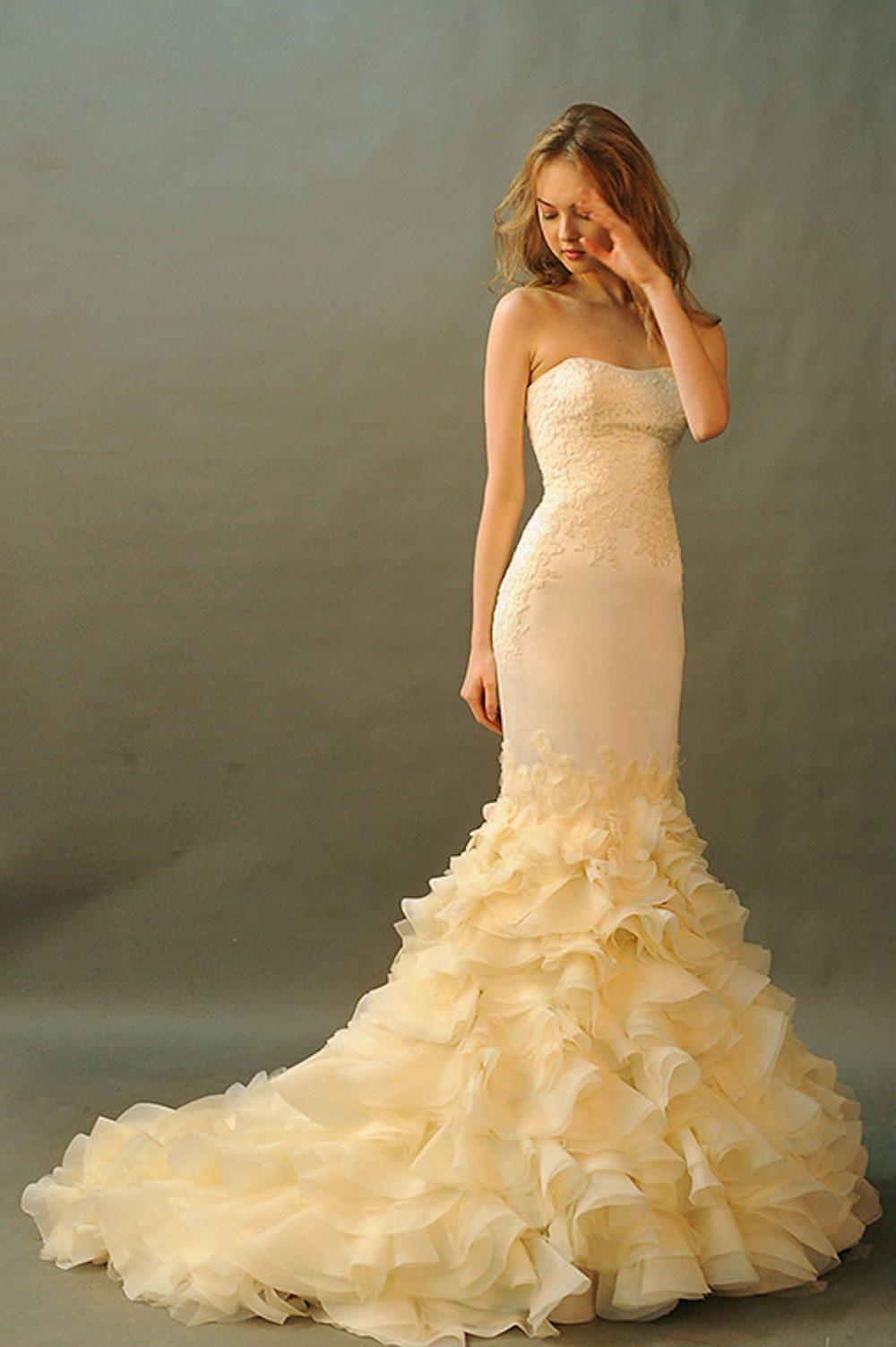 Kim Alpha Bridal - Wedding Dress Melbourne - Grecia Champagne Wedding Dress