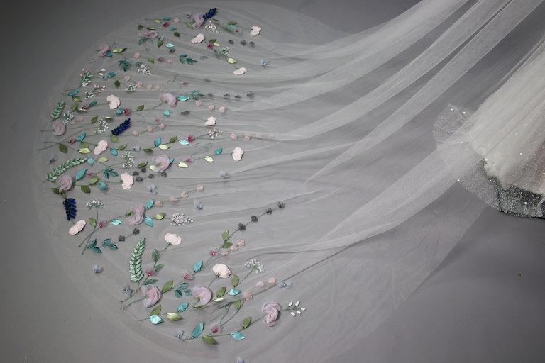 Kim Alpha Bridal Gowns Emdeep Veil