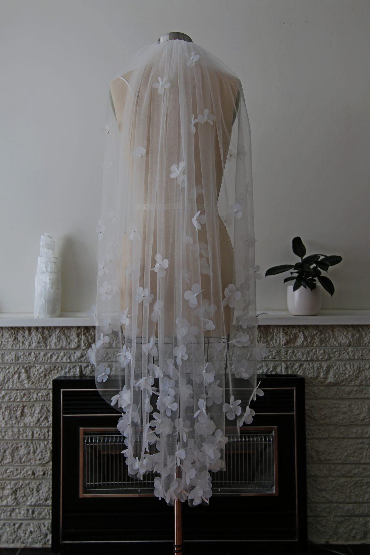GABBY floral wedding veil